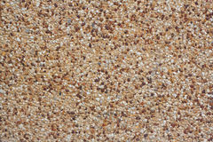 Rounded pebble stones cement Royalty Free Stock Images