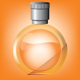 Rounded perfume bottle Royalty Free Stock Images