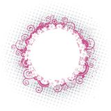 Rounded pink frame Royalty Free Stock Images