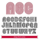 Rounded poster elegant stripy typeset Stock Photography