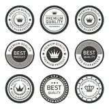 Rounded premium quality vector label collection. Rounded premium quality vector label stock vector Royalty Free Stock Image