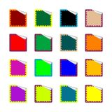 Rounded rectangle colored stickers on white Royalty Free Stock Photos