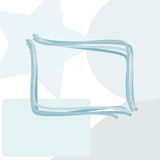 Rounded rectangle copy space window abstract Royalty Free Stock Photos