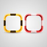 Rounded rectangle icon base Stock Photography