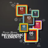 Rounded rectangle label infographic elements Stock Photo