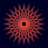 Rounded red unique background sacred geometry. Vector design element rounded royalty free illustration