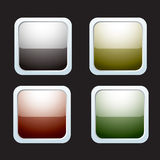 Rounded reflective icons Stock Photo