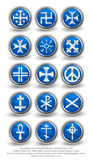 Rounded religion cross set. Part 1 Royalty Free Stock Image