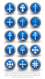 Rounded religion cross set. Part 2 Royalty Free Stock Photo