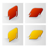 Rounded rhombus attached labels Stock Photos