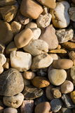 Rounded river color stones Royalty Free Stock Photography
