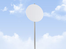 Rounded Road Sign Stock Photo