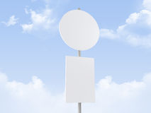 Rounded Road Sign Stock Image