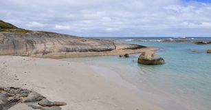 Rounded Rocks in Green's Pool, Western Australia stock image