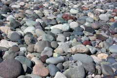 Rounded rocks (pebbles) Royalty Free Stock Photography