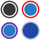 Rounded Seal Stamp Flat Icons Royalty Free Stock Photo