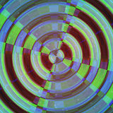 Rounded shape image. Abstract target Stock Images
