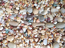Rounded small stones from sea beach Stock Photo