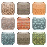 Rounded square app icons Stock Photo