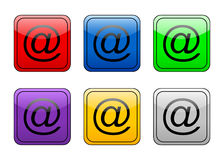 Rounded square button e-mail Royalty Free Stock Photos