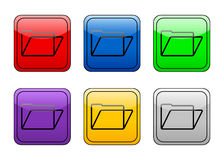 Rounded square button folder Stock Images