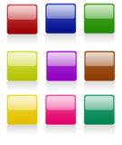 Rounded Square Buttons Stock Photo
