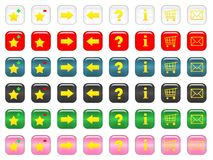 Rounded Square Buttons stock illustration