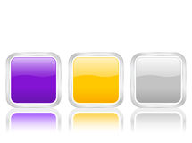 Rounded squares icon with cont Royalty Free Stock Photography