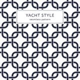 Rounded squares seamless pattern. Yacht style design. Fashionable elegant background. Template for prints, wrapping paper, fabrics, covers, flyers, banners Stock Image