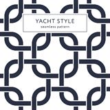 Rounded squares seamless pattern. Yacht style design. Fashionable elegant background. Template for prints, wrapping paper, fabrics, covers, flyers, banners Stock Photos