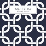 Rounded squares seamless pattern. Yacht style design. Fashionable elegant background. Template for prints, wrapping paper, fabrics, covers, flyers, banners Stock Photography