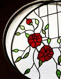 Detail of a stained glass window inside a room royalty free stock photography