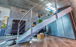 Rounded staircase in a modern office. Corporate and business con Royalty Free Stock Image
