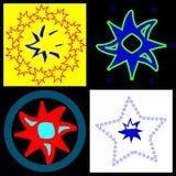 Rounded stars. Royalty Free Stock Photos