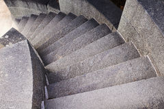 Rounded stone staircase Royalty Free Stock Photos