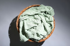 Rounded straw basket Stock Images