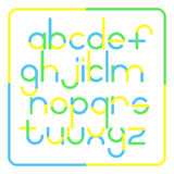 Rounded style alphabet Stock Photos