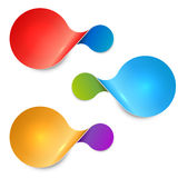 Rounded twisted two-sided color sale tag royalty free illustration
