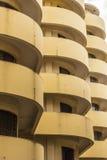 Rounded yellow balconys Havana Stock Photos