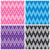 Rounded Zigzag Patterns Stock Photography