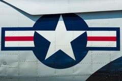 Roundel της Πολεμικής Αεροπορίας των Η.Π.Α. Στοκ Φωτογραφία