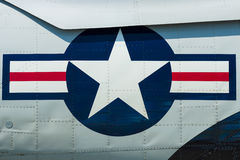 Roundel de la fuerza aérea de los E.E.U.U. Fotografía de archivo