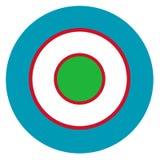 Roundel do país de Usbequistão imagem de stock