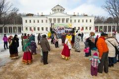 Roundelay in Ostafievo estate Royalty Free Stock Photos