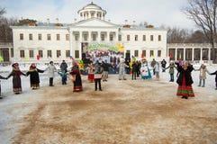 Roundelay in Ostafievo estate Stock Photos
