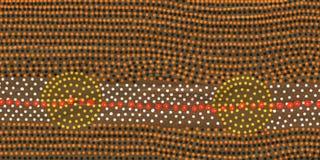 Roundels nell'arte aborigena Fotografia Stock Libera da Diritti