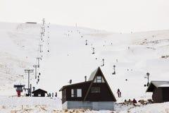 Roundhill在特卡波湖附近的滑雪区域 库存图片