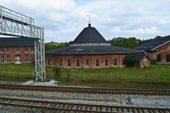 Roundhouse della ferrovia Immagini Stock