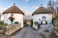 Roundhouses in Veryan in Cornwall Stock Fotografie