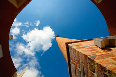 Rounding Building with chimney Stock Image